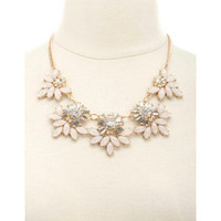 GEM & RHINESTONE STATEMENT BIB NECKLACE