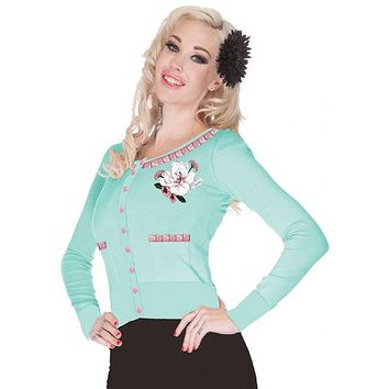 "Women's ""Seafoam Dream"" Cardigan by Voodoo Vixen (Green)"