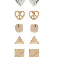 Peace Heart Multipack Earrings - Jewelry - Accessories - Topshop USA