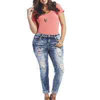 Almost Famous Destroyed Skinny Jean | Wet Seal+