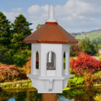 Bird feeder copper and white gazebo home and garden by BeeGracious
