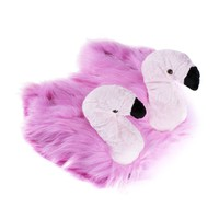 Pink Flamingo animal novelty slippers by funslippers® UK size 3.5-5.0