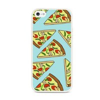 Aqua Pizza Pattern Cute Hipster White iPhone 5 Case - Fits iPhone 5