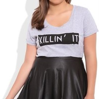 Plus Size Tee with Killin It Screen