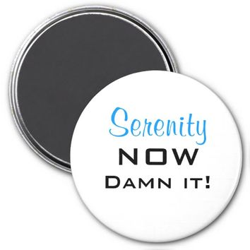 Serenity Now Damn It Magnet