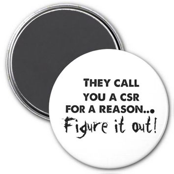 CSR Figure it Out Refrigerator Magnet