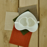 Natural Linen Coasters - Set Of 4 - You Can Choose the Color