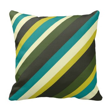 color combination stripe pillow