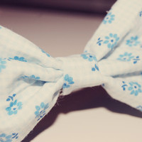 Blue Rosie Hair Bow by whispylove on Etsy