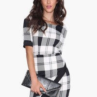 Plaid Envelope Dress