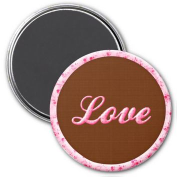 Shabby Rose Words Magnet-Love