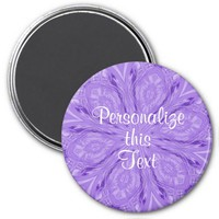 6 Petals Abstract Lavender Magnet