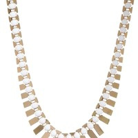 "Metal Fishbone in Gold Tone Necklace, 17""+3"" Extender"