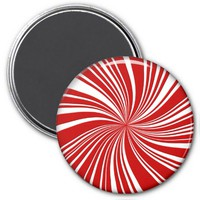 School Colors Twirl Magnet, Red-White