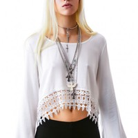 Reverse Hippy Crop Top | Dolls Kill