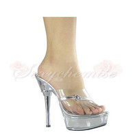 Patent Leather Platform High Heels Sandals Silver [TQL120323020] - £52.59 :