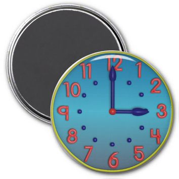Hourly Clocks Refrigerator Magnet 3