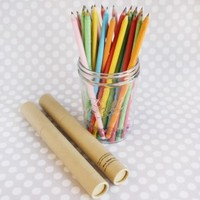 Sweet Lulu - Recycled Paper Pencils in a Kraft Tube