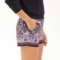 Scarf Print Tap Shorts