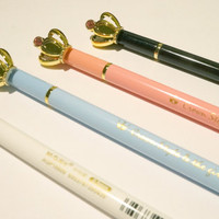 Q-Teen: Elegant Kingdom Royal Crown Gel Pen School Office Supply Kids Gift