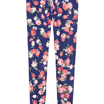 Rose Print Leggings (Kids)
