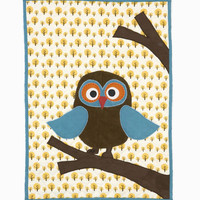 Ferm Living - Owl Quilted Blanket 8009 at 2Modern