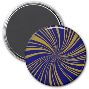 School Colors Twirl Magnet, Blue-Gold