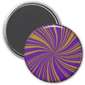 School Colors Twirl Magnet, Purple-Gold