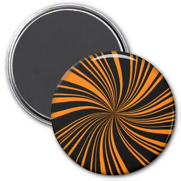 School Colors Twirl Magnet, Orange-Black