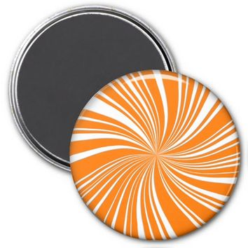 School Colors Twirl Magnet, Orange-White