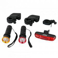 300LM CREE LED Q5 Bike Bicycle Headlight + 5 LED Rear Light free shipping