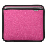 Bubblegum Pink Glitter iPad Sleeve Horizontal