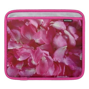 Pink Rose Petals iPad Sleeve Horizontal