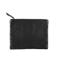 Black Zipper Clutch Bag
