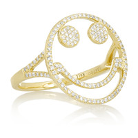 Finds | Rosa de la Cruz 18-karat gold diamond ring | NET-A-PORTER.COM