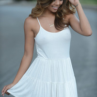 Tunic Flare Dress - White