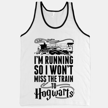 I'm Running So I Won't Miss The Train To Hogwarts