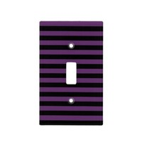 Punky Goth Black and Purple Striped Switch Cover