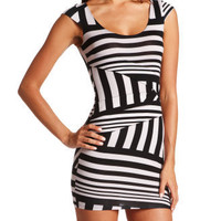 Charlotte Russe - Striped Panel Body-Con Dress