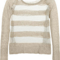 Sass & Bide | The Walk metallic open-knit linen sweater | NET-A-PORTER.COM