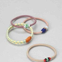 Boho Woven Ponytail Holder Set - Urban Outfitters