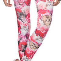 A-Lab Kitten Bouquet Leggings