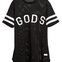 STAMPD | Unisex Gods Motif Basketball Jersey | Browns fashion & designer clothes & clothing