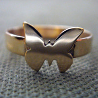 Brass Butterfly Ring by Anilani by Anilani on Etsy