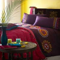 Purple &#x27;Medina&#x27; bed linen - Duvet covers &amp; pillow cases - Bedding - Home &amp; furniture -