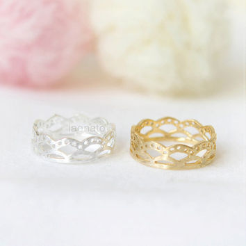 Lace Ring / Choose your color / Gold and Silver