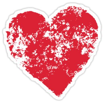 Red grunge heart sticker