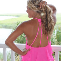Bangles Boutique — Hot Pink Ruffle Top