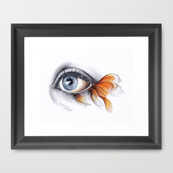 All I See is a Sea Framed Art Print by eDrawings38 | Society6