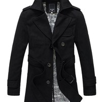 West Street Haku Men's Classic Winter Pea Coat